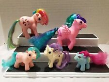 MY LITTLE PONY LOT OF G1 PONIES PARASOL, WHIZZER, SHAGGY, GLORY, & HALF NOTE 80S