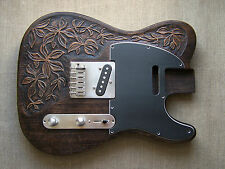 Hand carved guitar body for Telecaster