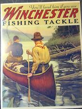 Winchester Fishing Tackle Advertising Poster, Philip Goodwin artist