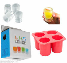 COOL ICE FROZEN SHOT GLASSES ICE MOULD ICE TRAY NOVELTY GIFT- In retail box