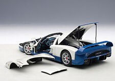 Autoart MASERATI MC12 ROAD CAR PRESENTATION OFFICIAL COLOR BLUE/WHITE 1/18 New!