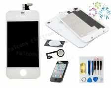 White For iPhone4S Replacement LCD Touch Screen Digitizer Assembly +back+button