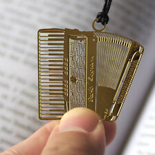 10pcs/lot accordion bookmark,metal bookmark,instrument bookmark,gold color
