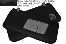 BLACK STITCH FITS SUZUKI GRAND VITARA 2005-2012 2X SUN VISORS LEATHER COVERS