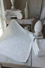 Damask linen napkin 1 ( of set ) TP   monogrammed linen  30X25 c1920 white old