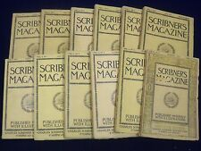1887 SCRIBNER'S MAGAZINE LOT OF 12 COMPLETE YEAR - ADS & ILLUSTRATIONS - WR 134