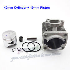 40mm Cylinder 10mm Piston Kit  2 Stroke 47cc Engine Mini ATV Pocket Dirt Bike