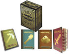 Complete 4-Book Set in Gold-Foil Art Minecraft Hard Handbook Case Collection