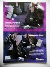 PUBLICITE-ADVERTISING :  Effet IBANEZ LF7 Lo Fi / PD7 Phat-Hed  09/2001