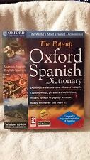 SEALED NIB Pop-Up OXFORD SPANISH Dictionary Windows CD 95/98/NT/ME/2000/XP