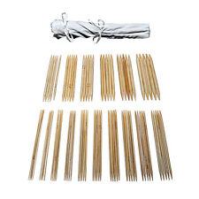 16 Tailles X 5 Jeux 20cm Bambou Poignée Double Point Tricot Aiguilles