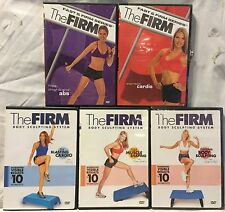 5 The Firm Box workout exercise fitness DVD lot express cardio hips thighs abs