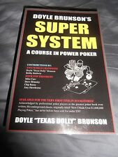Doyle Brunson's Super System A Course In Poker Power WoW!