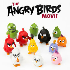 12 PCS Angry Birds Cartoon Moive Mini Action Figures Collectible Doll Toys Gifts