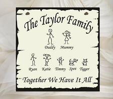 Beautiful Personalised Family Children Love Home Sign Shabby Chic Kids Pet Dog