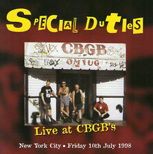 SPECIAL DUTIES - LIVE AT CBGB'S CD (77 IN 98) UK-PUNK