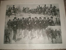 Holland Netherlands Types of the Dutch army 1903 print