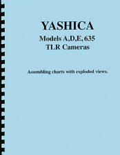 Yashica A D E 635 Camera Repair / Assembling Charts - Exploded Views