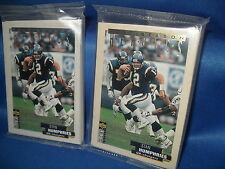 1995 COLLECTORS CHOICE FOOTBALL - POSTSEASON HEROICS SILVER & GOLD (2) NFL SETS