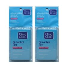 Clean & Clear Oil Blotting Sheets, Oil Absorbing Sheets, Papers * 2 x 60er Pack