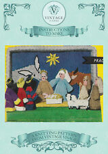 Vintage Christmas nativity,crib, scene knitting pattern to make- free UK postage