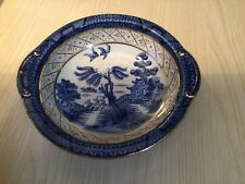Early Booths Real Old Willow Pattern Small Eared Bowl Blue & White China