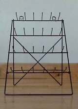 Wire Easel Counter Top or Wall Display Rack Retail 24 Pegs Hooks / 4 Tiers Black