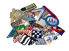 Pack of 20 Assorted Embroidered Patches Applique Motifs  (Iron-On & Sew-On)