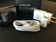 New Authentic Samsung S7 Edge USB Data Cable+ Fast Charger Cube+Ear Headphone