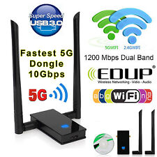 1200 Mbps Dual Band 2.4/5Ghz Wireless USB WiFi Network Adapter 802.11AC Antenna
