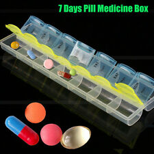 New 7 Day Weekly Pill Medicine Case Holder Storage Organizer Container Box