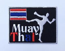 Muay Thai Boxing Patch Embroidered Iron on / Sew on Patches Logo Badge Emblem