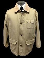 mens beige BELLEROSE shooting jacket sport hunting twill cotton LARGE