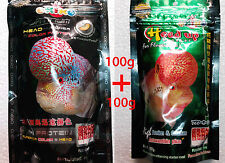 OKIKO Platinum 100g + Head up 100g - Flower Horn Fish Food