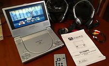 "Audiovox D1708PK Portable DVD Player (7"") with Case and Accessories!!!"