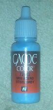 Vallejo Paint Game Color Steel Grey 72102 Eye Dropper Bottle 17ml