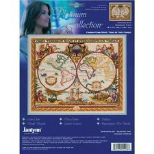 Janlynn Platinum Collection Olde World Map Counted Cross Stitch Kit - 265556