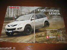 *PROVA=GREAT WALL HOVER 5 SPORT ECODUAL 2011=CLIPPING=RITAGLIO=AL17=