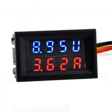 DC 4.5-30V 0-50A Dual LED Digital Volt meter Ammeter Voltage AMP Power OO55