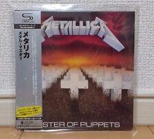 Metallica Master of Puppets Japan SHM-CD UICY-94664 LTD Mini Lp 2010 w/OBI
