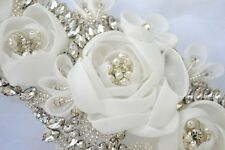 FLORENCIA BRIDAL SASH Vintage Crystal Luxury Wedding Belt Dress Rhinestone Sash