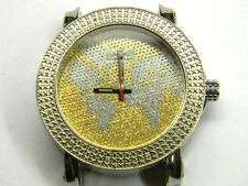 mens Techno Grill 12 diamond bezel dress watch parts repair only