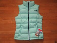 NORTH FACE WOMENS NUPTSE 2 VEST, SURF GREEN, NWT, XS