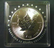 2016 Canada $5 F15 Privy Silver Maple Leaf Coin 1oz .9999 fine the Fabulous 15