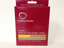 "Gold Polishing Cloth Connoisseurs 8"" x 10"" Cleaner Ultra Soft 5 STAR RATINGS."