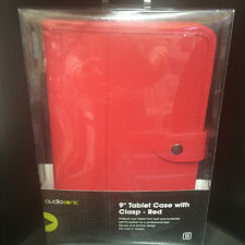 """Audiosonic 9"""" Red Tablet Case With Clasp - Protect from scratches and dust"""