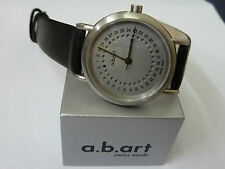 NEW a.b.art Watch KSD101 with Black Leather Strap *CLEARANCE PRICE *
