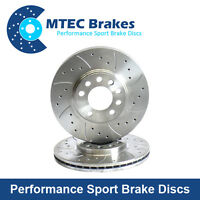 BMW 3 Series Saloon E46 330d 09/01-01/05 Rear Brake Discs Drilled Grooved