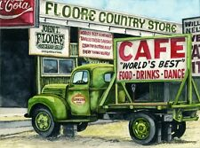 "Water Color Print of Lynn Wilkerson's ""Floore Country Store"""