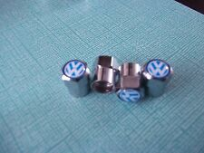 VW CHROME TYRE VALVE CAPS    GOLF POLO GTI VR6  PASSATT  BORA